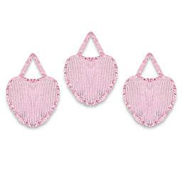 Sweet Jojo Designs Pink Chenille and Satin Wall Decor