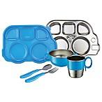 Innobaby Din Din SMART™ 7-Piece Stainless Steel Mealtime Set in Blue