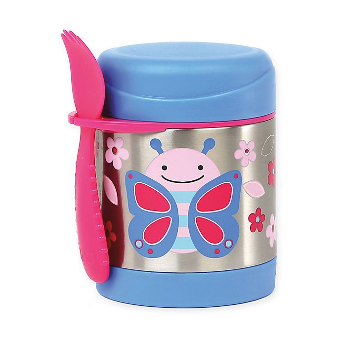 Alternate image 1 for SKIP*HOP® Zoo 11 oz. Insulated Food Jar in Butterfly