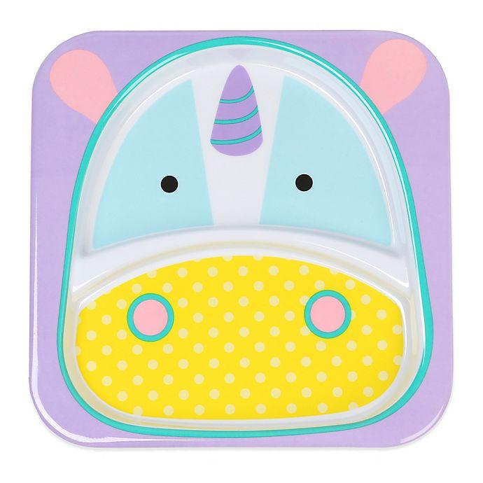 Alternate image 1 for SKIP*HOP® Zoo Divided Plate in Unicorn