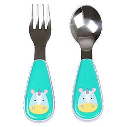 SKIP*HOP® Zootensils Fork & Spoon in Unicorn