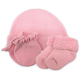 So 'dorable Preemie Girl 3-Pack Beanie, Mittens & Booties Set