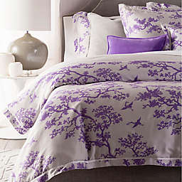 Surya The Crane Florence Broadhurst 2-Piece Reversible Twin Duvet Cover Set in Lavender/White
