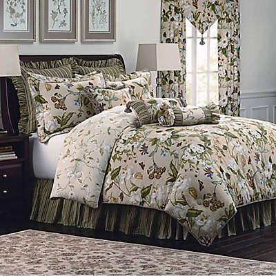 Williamsburg Garden Images Comforter Set in Parchment