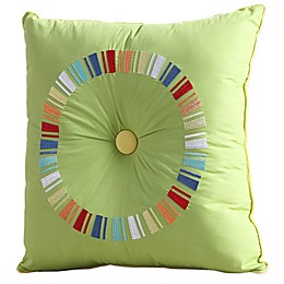 Fiesta® Embroidered Circle Square Throw Pillow in Sunflower