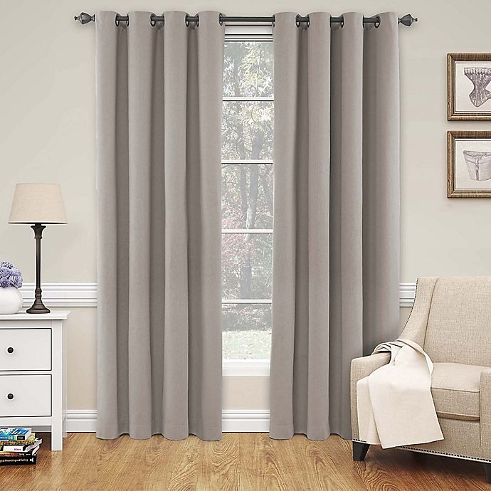 Alternate image 1 for SolarShield® Naomi 84-Inch Blackout Window Curtain Panel in Linen