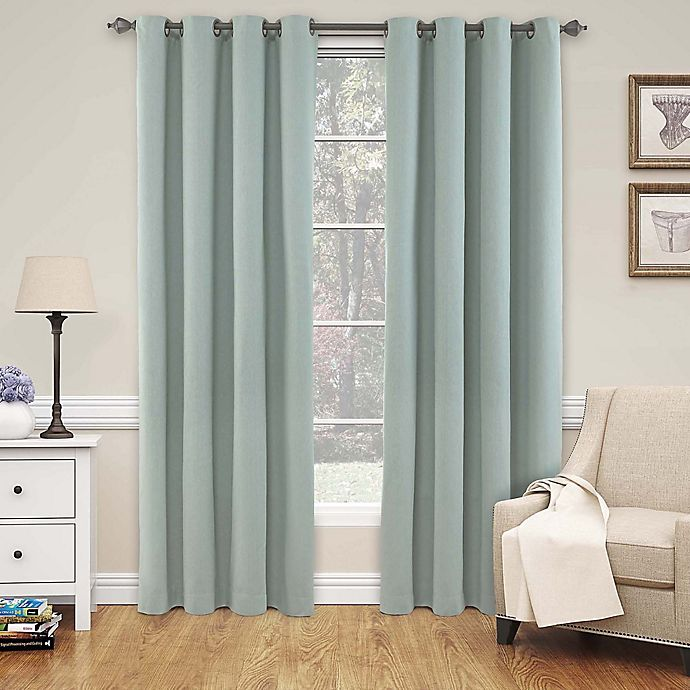 Alternate image 1 for SolarShield® Naomi 63-Inch Blackout Window Curtain Panel in Blue