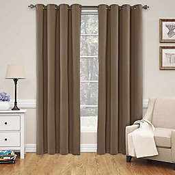 Eclipse Nadya 95-Inch Blackout Window Curtain Panel in Teak