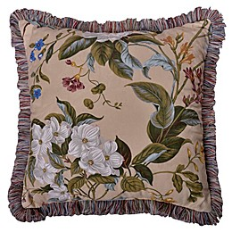 Williamsburg Garden Images Square Throw Pillow in Parchment