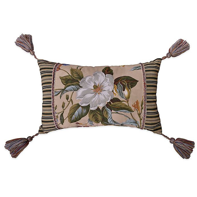 Alternate image 1 for Williamsburg Garden Images Oblong Throw Pillow in Parchment