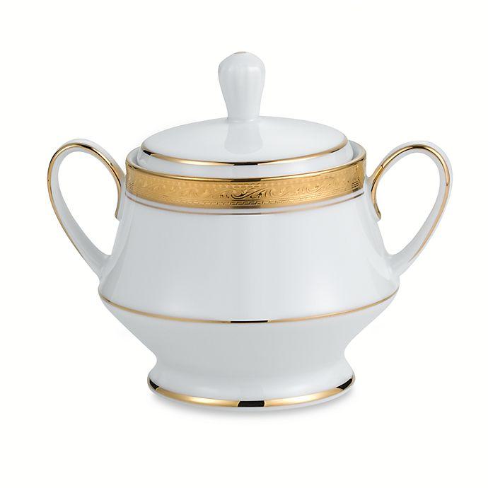 Alternate image 1 for Noritake® Crestwood Gold Covered Sugar Bowl