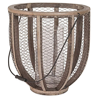 Dimond Home Wire Atlas Barrel Hurricane Candle Holder