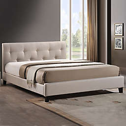 Annette Designer Bed with Upholstered Headboard