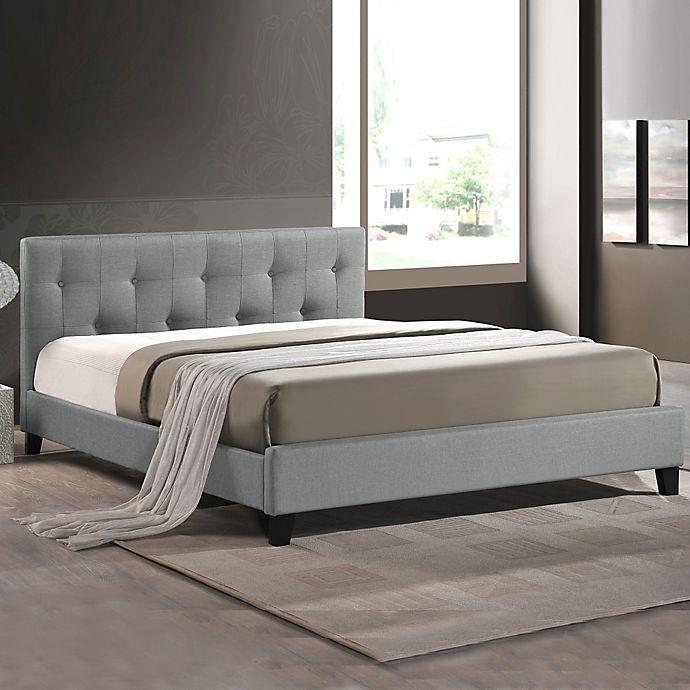 Alternate image 1 for Annette Designer Full Bed with Upholstered Headboard in Grey