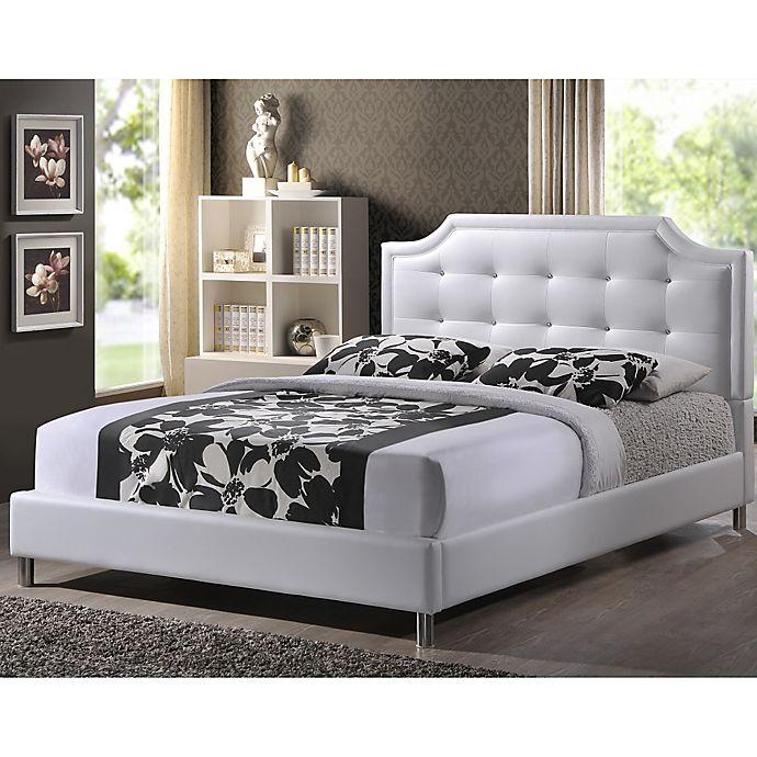 Alternate image 1 for Carlotta Designer Bed with Upholstered Headboard