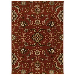 Oriental Weavers Casablanca Floral Rug in Red