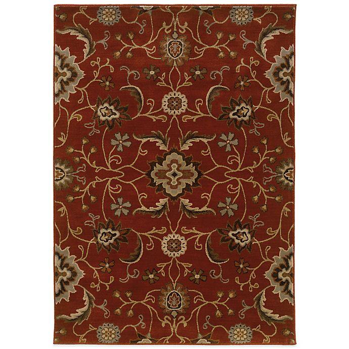 Oriental Weavers Casablanca Floral Rug In Red Bed Bath