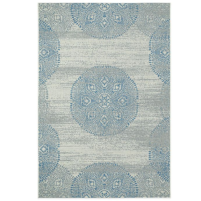 Alternate image 1 for Genevieve Gorder by Capel Rugs Finesse Mandala 3-Foot 11-Inch x 5-Foot 6-Inch Woven Rug in Blue