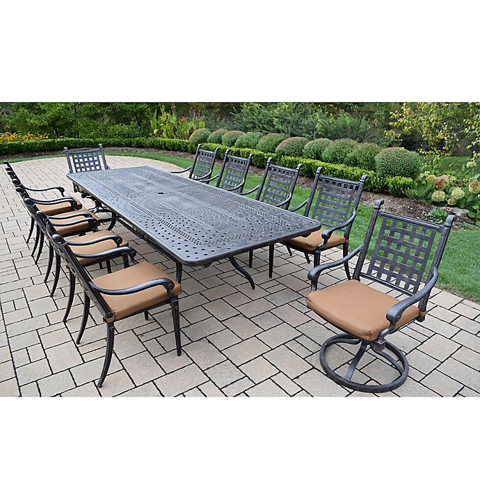 Alternate image 1 for Oakland Living Richmont 11-Piece Extendable Outdoor Dining Set in Antique Black