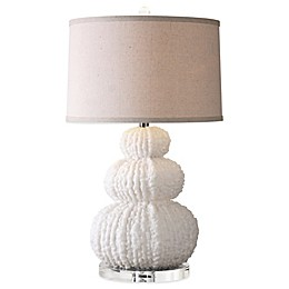 Uttermost Fontanne Table Lamp in Ivory with Linen Shade