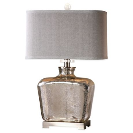 Uttermost Molinara Table Lamp In Brushed Nickel With Linen