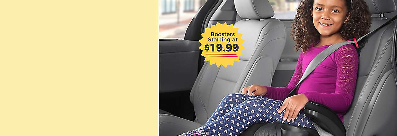 booster seats starting at $19.99