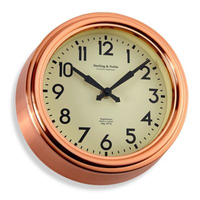 Small Copper Kitchen Wall Clock Bed Bath Amp Beyond