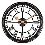 Roman Grill Wall Clock in Bronze