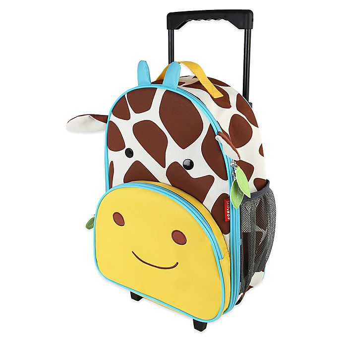 Alternate image 1 for SKIP*HOP® Zoo Little Kid Rolling Luggage in Giraffe
