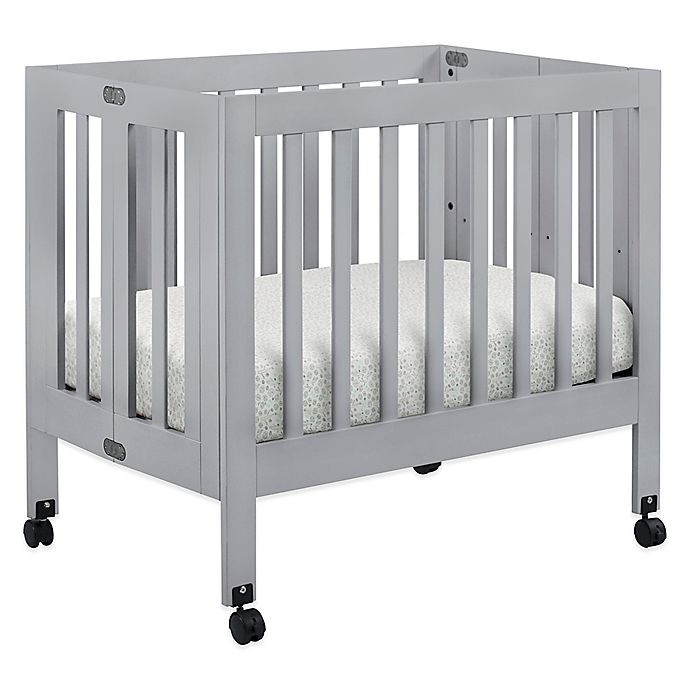 Babyletto Origami Mini Crib In Grey Bed Bath Amp Beyond