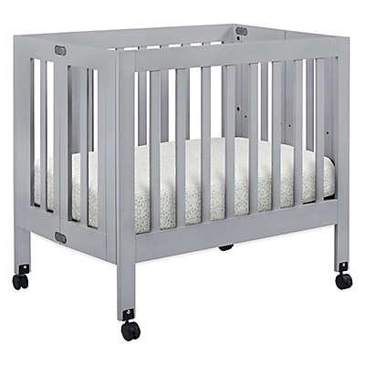 Babyletto Origami Mini Crib in Grey