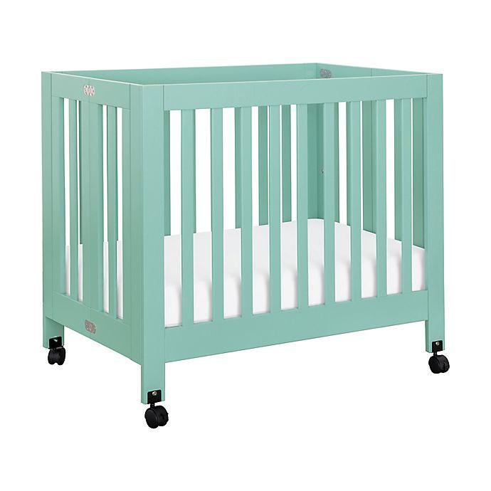 Alternate image 1 for Babyletto Origami Mini Crib in Lagoon