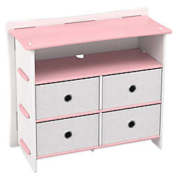Legare® Princess 5-Shelf Tool-Free Dresser in Pink