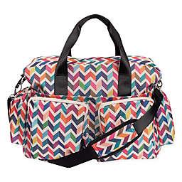 Trend Lab French Bull Deluxe Chevron Duffle Diaper Bag in Multicolor