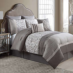 Arcadia 8-Piece Comforter Set in Taupe/Ivory