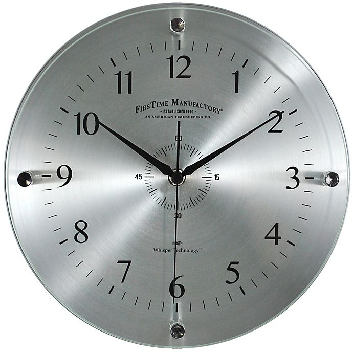 Alternate image 1 for FirsTime® Steel Whisper Wall Clock