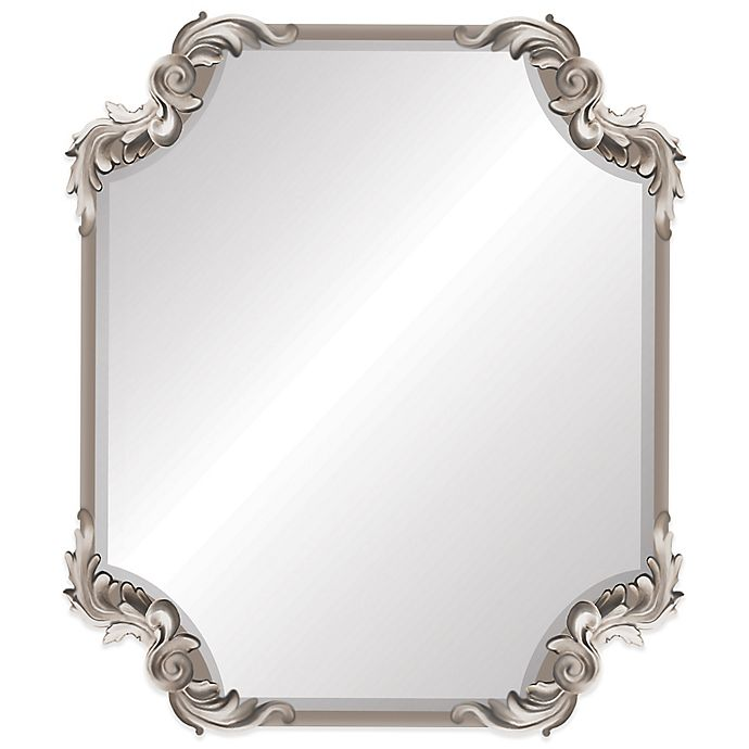 Ornate Antique 19 Inch X 22 Inch Wall Mirror In Silver