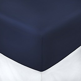 250-Thread-Count Cotton Percale Queen Fitted Sheet