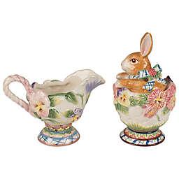 Fitz and Floyd® Halcyon Bunny Sugar and Creamer (Set of 2)