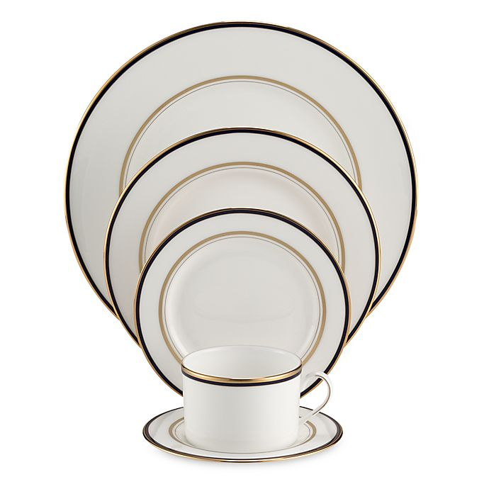 Alternate image 1 for kate spade new york Library Lane Navy™ 5-Piece Place Setting