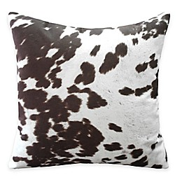 Weston Animal Faux Hide Print Throw Pillow in Brown (Set of 2)