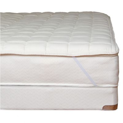 twin bed mattress topper Naturepedic® Organic Cotton Quilted Mattress Topper with Straps  twin bed mattress topper