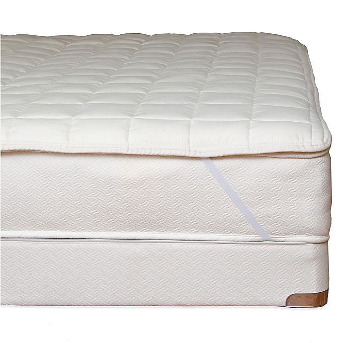 Naturepedic® Organic Cotton Quilted Mattress Topper with ...