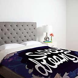 Deny Designs Leah Flores Sweet Dreams Duvet Cover in Purple
