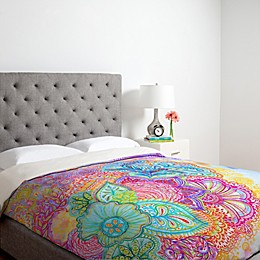 Deny Designs Stephanie Corfee Flourish Duvet Cover in Pink