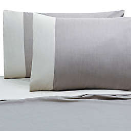 Villa Di Borghese Chesterfield Italian-Made Sheet Set in Grey/White