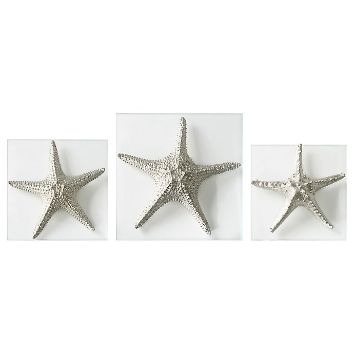 Alternate image 1 for Uttermost Silver Starfish Wall Art (Set of 3)