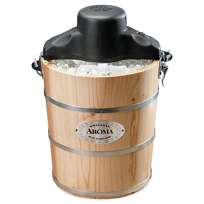 Alternate image 1 for Aroma® 6 qt. Traditional Ice Cream Maker