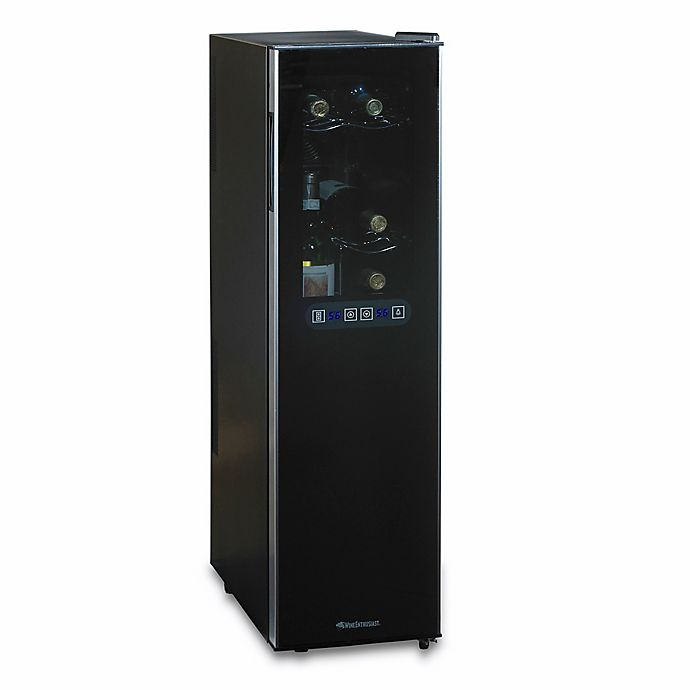 Alternate image 1 for Wine Enthusiast® Slimline Silent 18-Bottle Dual-Zone Wine Cooler