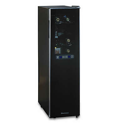 Wine Enthusiast® Slimline Silent 18-Bottle Dual-Zone Wine Cooler